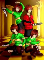 Undertale AUS -CHARA- by shina1319