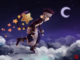 Crossing the night sky by Jitmett