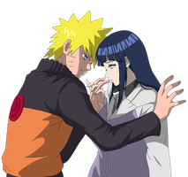 NaruHina - Lineart colored by DennisStelly