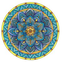 Coloured Mandala 2 July 2014 by Artwyrd