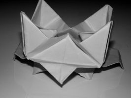 Origami Lotus Made By My Brother by Valerie-heika