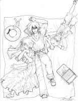 Howl's Moving Castle Lineart by cafe-lalonde