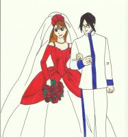 Ishida and Orihime Wedding by zlizroswell