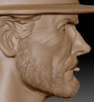 Clint E. Zbrush Update 3 by FoxHound1984