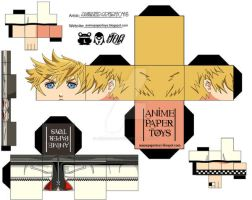 ROXAS KINGDOM HEARTS CUBEE by animepapertoys
