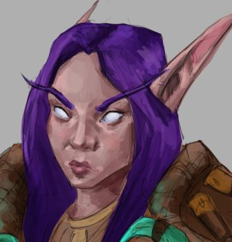 Night elf by Nuxxe