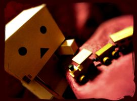 Danbo's favourite toy by ugnip
