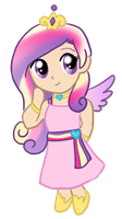 My Little Chibi Princess Cadance by CardcaptorKatara