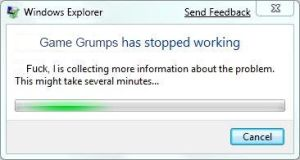 Game Grumps has stopped working by Guarrdpony