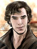 BBC Sherlock Smirk Color by semie