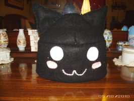Felt: Gaia: Black Cat Felt Hat by T-ShirtQueen
