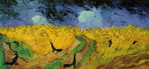 Wheat Field with Grackles by markhosmer