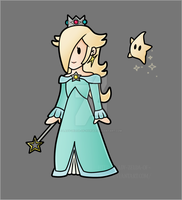 Paper Rosalina - Colour by Lady-Zelda-of-Hyrule
