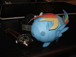 Rainbow Dash Blob papercraft by RocketmanTan