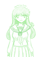 5 minute drawing: Kagome by The-FanART-Girl