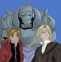 Elric Brothers by SingingDoughnut
