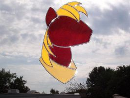 Big Macintosh Fan Made Stained Glass by captivefancy