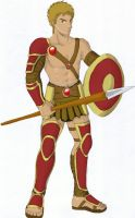 Gladiator male version COLOR by wtenshi