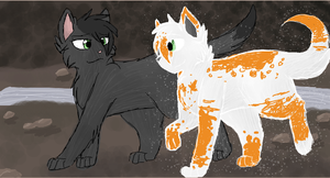 Hollyleaf and Fallen Leaves by CascadingSerenity