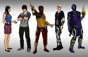 Characters of Elemental Crisis by Cronoman66