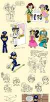 The Police Princess of New Orleans (Sketchdump) by Magenta-Fantasies