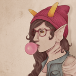 Hipster Peixes by ChibiSo