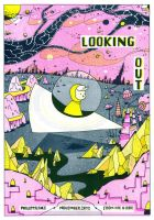 Looking Out risograph print by philippajudith