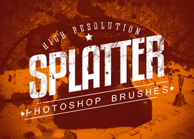 7 Splatter Photoshop Brushes by loswl