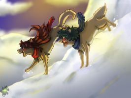 Wolf Children-Hey-Brother Hey-Sister-Ame and Yuki by danituco