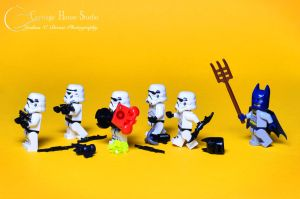 Lego Stormtroopers - You Darn Kids! by Jbressi