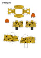 five nights at freddy's 2 old chica papercraft pt2 by Adogopaper