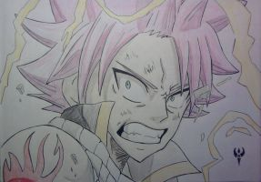 Fairy Tail - Natsu angry by Arenthor