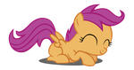 Happy Scootaloo Vector (Redone) by Dipi11