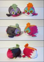 Stacking Plush: Mini Hawlucha and Shiny Hawlucha by Serenity-Sama