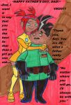 Sari and Issac Sumdac: Happy Father's Day. by VectorMagnus2011