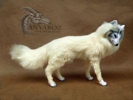 Hewie the Arctic Fox Room Guardian by AnyaBoz