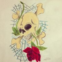 Skulls and roses by Spear13