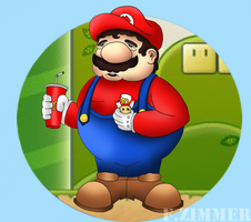 Fat Mario by FZiMMeR