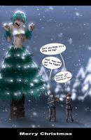 Hurting Christmas Dryad by Byoki-Desu