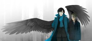 Sherlock the Angel by allonsy-sherlockians