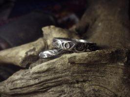 Silver Wedding Rings 2 by Rolary