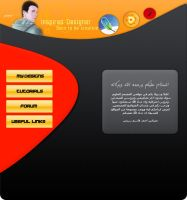 Inspired Designer web layout by AhmedART
