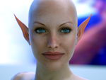 WIP elF with no name SSS test render by MaskDemon