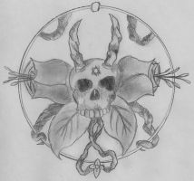 simple skull vine by yellowmadness54