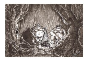 02: The Hobbit - The 3 trolls by ritchat