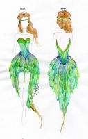 Peacock Dress by cwhistle