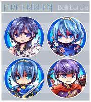 Fire Emblem Buttons by jinyjin