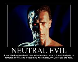Neutral Evil Terminator by 4thehorde