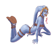 La Blue Twi'lek by quotidia