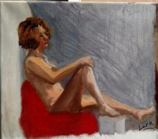 90 min. Quick figure study by 7AirGoddess3